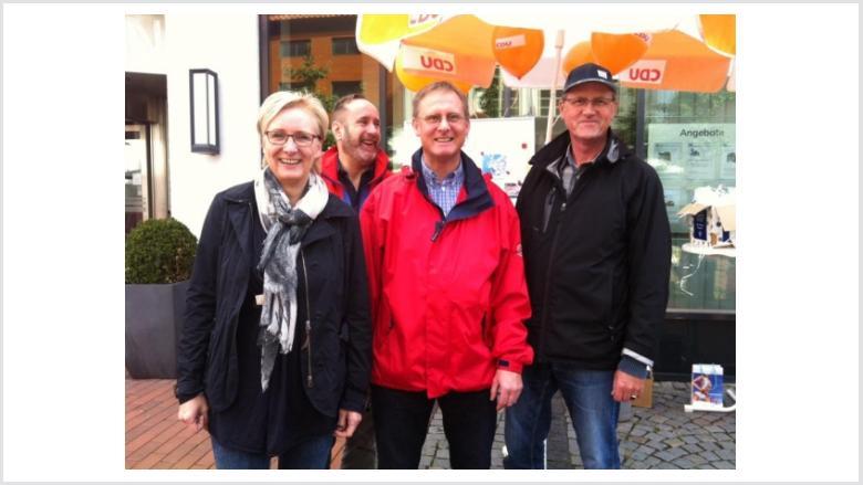Infostand in der Kieler Straße